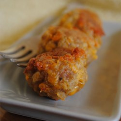 Sausage Balls Recipe and Video - Golden, tender and savory baked sausage balls.