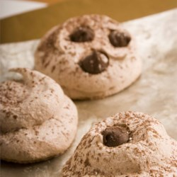 Chocolate Meringue Cookies Recipe - This is a meringue cookie with a double chocolate taste.  Store these in an air tight container.