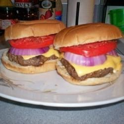 Pimento Cheese Bacon Burgers with Tomato and Red Onion