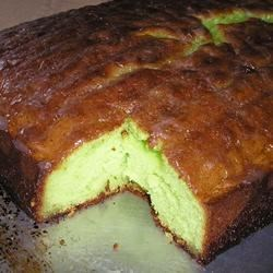 Tropical Lime Cake Recipe - This cake is a refreshing lime flavor. Appealing green color and citrus flavor are always festive!
