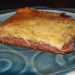Hoagie Bake Recipe - Salami, ham and pepperoni are sandwiched, with Provolone and Swiss cheeses, between 2 layers of refrigerated crescent dough.