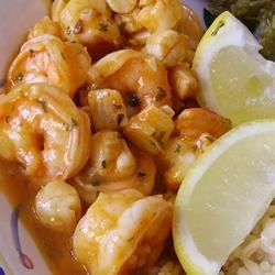 Chile-Garlic Shrimp Recipe - Buffalo wing seasoning, garlic, cilantro, and lime are the secret ingredients in this simple shrimp dish.