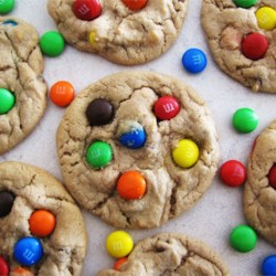 Robbi's M&Ms(R) Cookies Recipe and Video - Cookies using M&Ms(R) candies, any variety. Old recipe-but ALWAYS a favorite!
