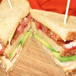 Triple Decker Grilled Shrimp BLT with Avocado and Chipotle Mayo