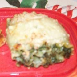 Spinach Lasagna Roll