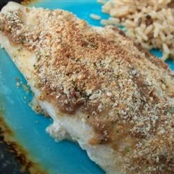 Mustard Crusted Tilapia Recipe - This simple recipe gives this mild fish a rich taste that'll wow you! Easy for anyone of any cooking level to prepare.