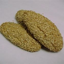 Sesame Seed Cookies I Recipe - Italian cookies rolled in sesame seeds