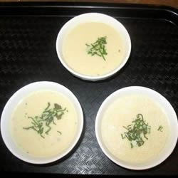 Cream of Artichoke Soup II Recipe - Artichokes are steamed, then stripped of their flesh and hearts and combined with sauteed leeks and cream in this subtle soup.