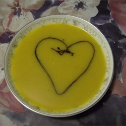 Butternut squash soup with Basalmic Reduction