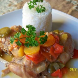 Rabbit Stew with Coconut Cream Recipe - This is an old recipe that comes from Colombia. My family loves when I cook this. Rabbit meat is very low in fat and can be dry-tasting, so it marries well with coconut cream. It is best to cook the rabbit gently till it is falling off the bone. Serve with rice.