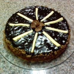 Dark Chocolate Cream Cheese Cake Recipe - A rich chocolate cake with a nutty cream cheese frosting. It's a nice recipe and you will love it!
