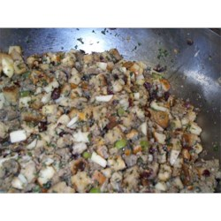Uncooked Stuffing (Awesome Sausage, Apples & Cranberry Stuffing)