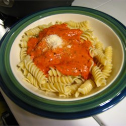 Roasted Red Pepper Cream Sauce