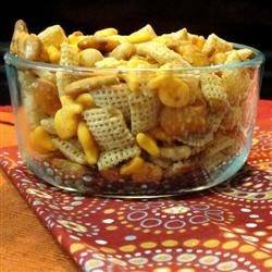 Grandma Jensen's Nuts and Bolts Recipe - Garlic powder and Worcestershire sauce flavor this common holiday snack mix.
