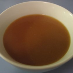 Mom's Brown Gravy Recipe - A nice rich brown gravy, completely vegetarian, and perfect for potatoes or vegetables.