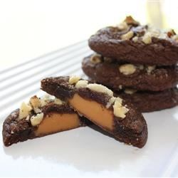 Caramel Filled Chocolate Cookies Recipe - Chocolate cookie dough is wrapped  around caramel filled chocolate candies. We have these at Christmas time each year.  They are delicious!  Hope you enjoy them too.