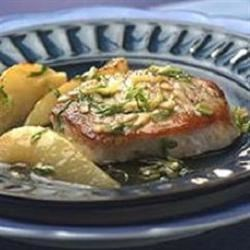 Pork Chops with Pear and Ginger Sauce