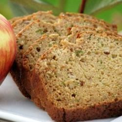 Zucchini Apple Bread Recipe - A lightly sweet zucchini bread with walnuts and apples.