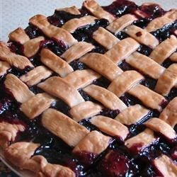 Grandma's Blueberry Pie Recipe - Fresh blueberries, livened up with a hint of lemon juice and cinnamon, are baked in this old-fashioned lattice-topped pie.