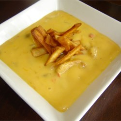 Just Cheese Soup Recipe - This is a cheese soup recipe that is just cheese, no potatoes or broccoli, lightly flavored with carrots and onions.  It's appealing to kids as it is, or, as my dad sometimes did, you can just leave all the vegetables out to make kids happy.