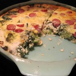Broccoli Quiche with Mashed Potato Crust Recipe - A broccoli and cheese quiche in a light, crispy potato crust.  A new twist on a familiar favorite.  And a great way to use left over potatoes!