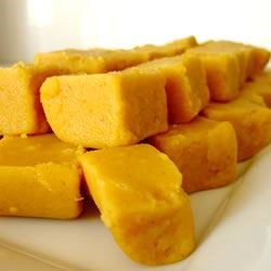 Pumpkin Fudge Recipe - Using the same method as is used in making traditional fudge, pumpkin is substituted for chocolate in this seasonal recipe for a corn syrup based treat.