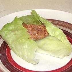 Stuffed Cabbage Rolls--Rolling Process