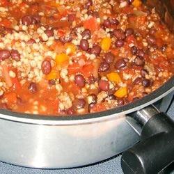 Black Bean, Barley and Turkey Chili