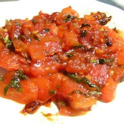 Tomato Chutney II Recipe - This is an amazing chutney that is some what spicy but not to bad, and sweet. This is very good on flat breads.