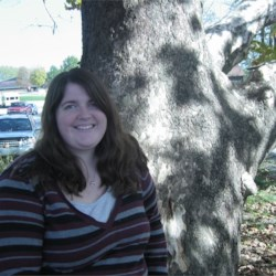 Me sitting on a Brown County tree.