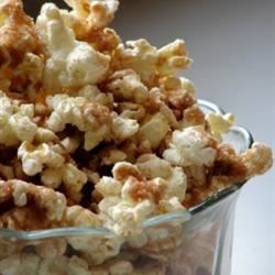 Cinnamon-Sugar Popcorn Recipe - This popcorn is baked with a cinnamon, sugar, and butter coating in this addictive snack.