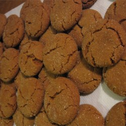 Molasses Cookies II Recipe - Soft, easy molasses cookies.  Great for kids to help make!