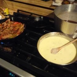 Swiss and pepper jack white sauce variation