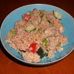 Salmon Cucumber Couscous Salad