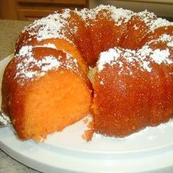 Orange Juice Cake Recipe - This cake is similar to a rum cake, but you substitute orange juice for rum.