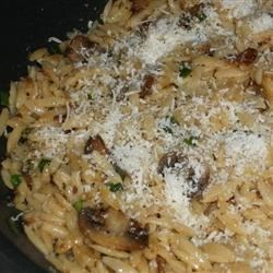 Orzo with Caramelized Mushrooms and Wilted Spinach
