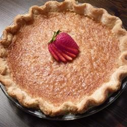 Sugar Cream Pie V Recipe - This pie is very sweet and creamy, and it 's laced with a hint of vanilla. Lots of sugar, heavy cream and flour are combined, and then milk and vanilla are mixed in. The filling is poured into an unbaked pie crust, dotted with butter, sprinkled with nutmeg and baked .