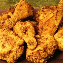 Southern Fried Chicken Recipe - A heritage recipe, both simple and reliable:  chicken in a batter of salt, pepper, flour and paprika, quickly fried in hot vegetable oil.