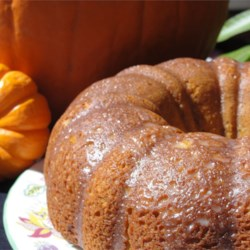 Pumpkin Cake II Recipe - A simple dessert using pumpkin and yellow cake mix. Watch out, pumpkin pie!!!