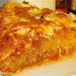Baked Spaghetti Squash Lasagna Style Recipe - This is an alternative to bland old spaghetti squash. It resembles baked Rigatoni and Lasagna. Kids also loved it! Give it a try!