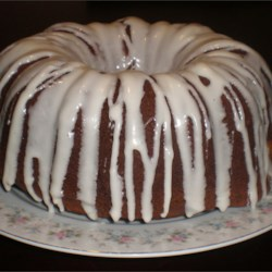 Pumpkin Gingerbread cake with Rum Cream Cheese Glaze