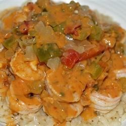 Suzanne's Carribbean Shrimp over Risotto