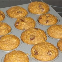 Too-good-to-be-healthy pumpkin chocolate chip muffins