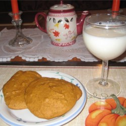 Pumpkin Cookies II Recipe - These pumpkin cookies with raisins and nuts are perfect for Halloween entertaining.