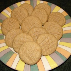 Peanut Butter Cookies VI Recipe - Very easy recipe: you mix all the ingredients in one bowl. Makes a very soft peanut butter cookie.  No need to press cookies down before you bake them. Very good!