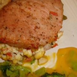 Blue Cheese, Bacon and Chive Stuffed Pork Chops Photos ...