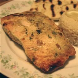 recipe: yogurt-marinated salmon fillets (dahi machhali masaledar) [13]