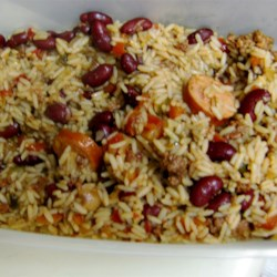 Cajun Dirty Rice Recipe - One of our family's all-time favorites. Make it as spicy or mild as you please. It is hearty on a cold winter's night. If you are cooking for a crowd, this recipe can easily be doubled. Be sure to serve this with cornbread!