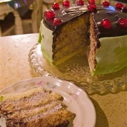 Cassata Cake Recipe - Cassata cake is like a cannoli but more gooey. You need 2 - 9 inch sponge cake layers for this recipe. The instructions are given for to make them, or you can use your own recipe.