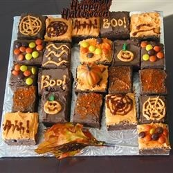 Scrumptious Frosted Fudgy Brownies - Halloween!